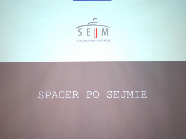 Spacer po Sejmie
